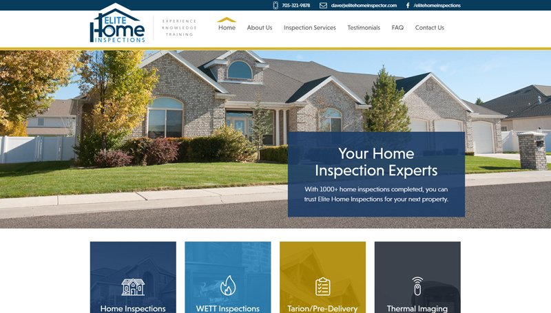 Website Design for Elite Home Inspections