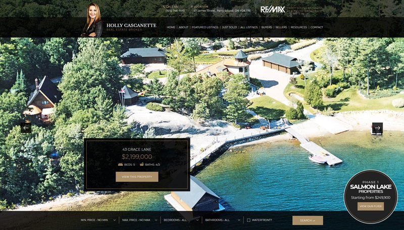 Website Design for Holly Cascanette