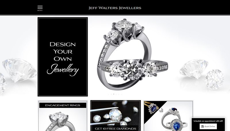 Website Design for Jeff Walters Jewellers