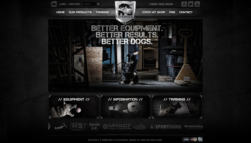Website Design for K9 Dynamics