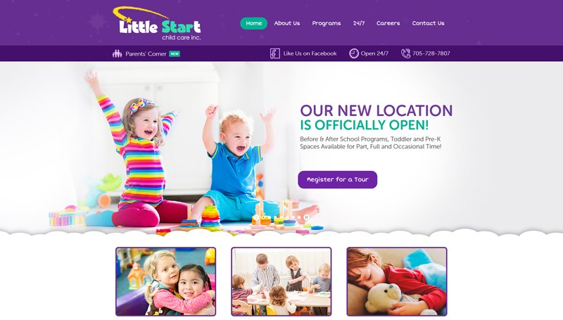 Website Design for Little Start Child Care Inc.