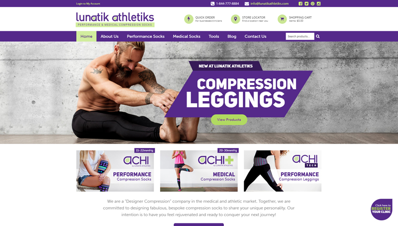 Website Design for Lunatik Athletiks