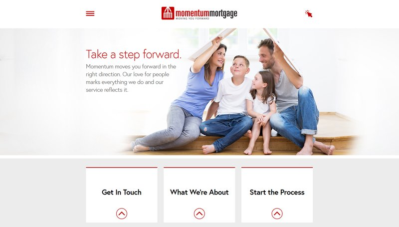 Website Design for Momentum Mortgage