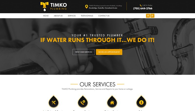 Website Design for Timko Plumbing
